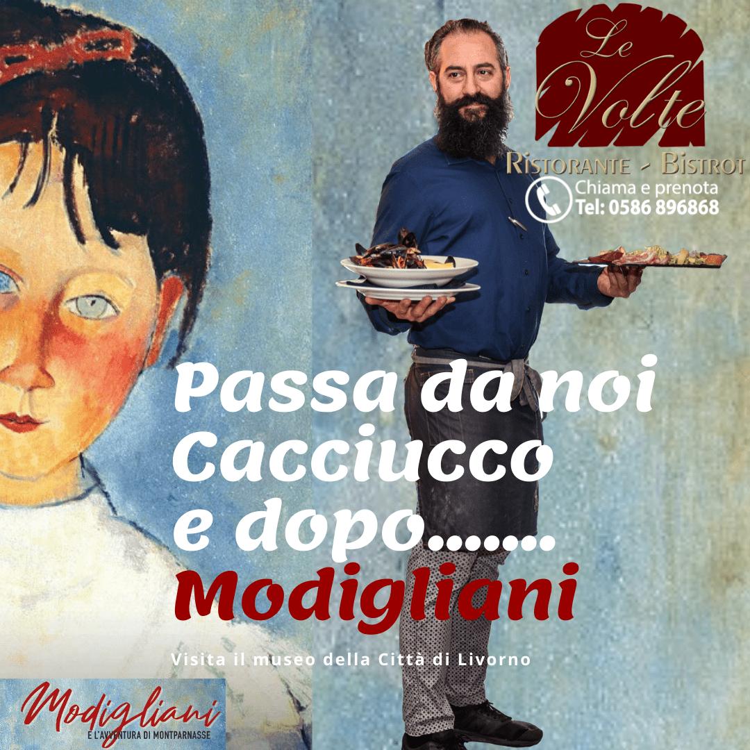 andrea 1 - L'arte (di Modigliani) e il buon cibo (del ristorante Le Volte)