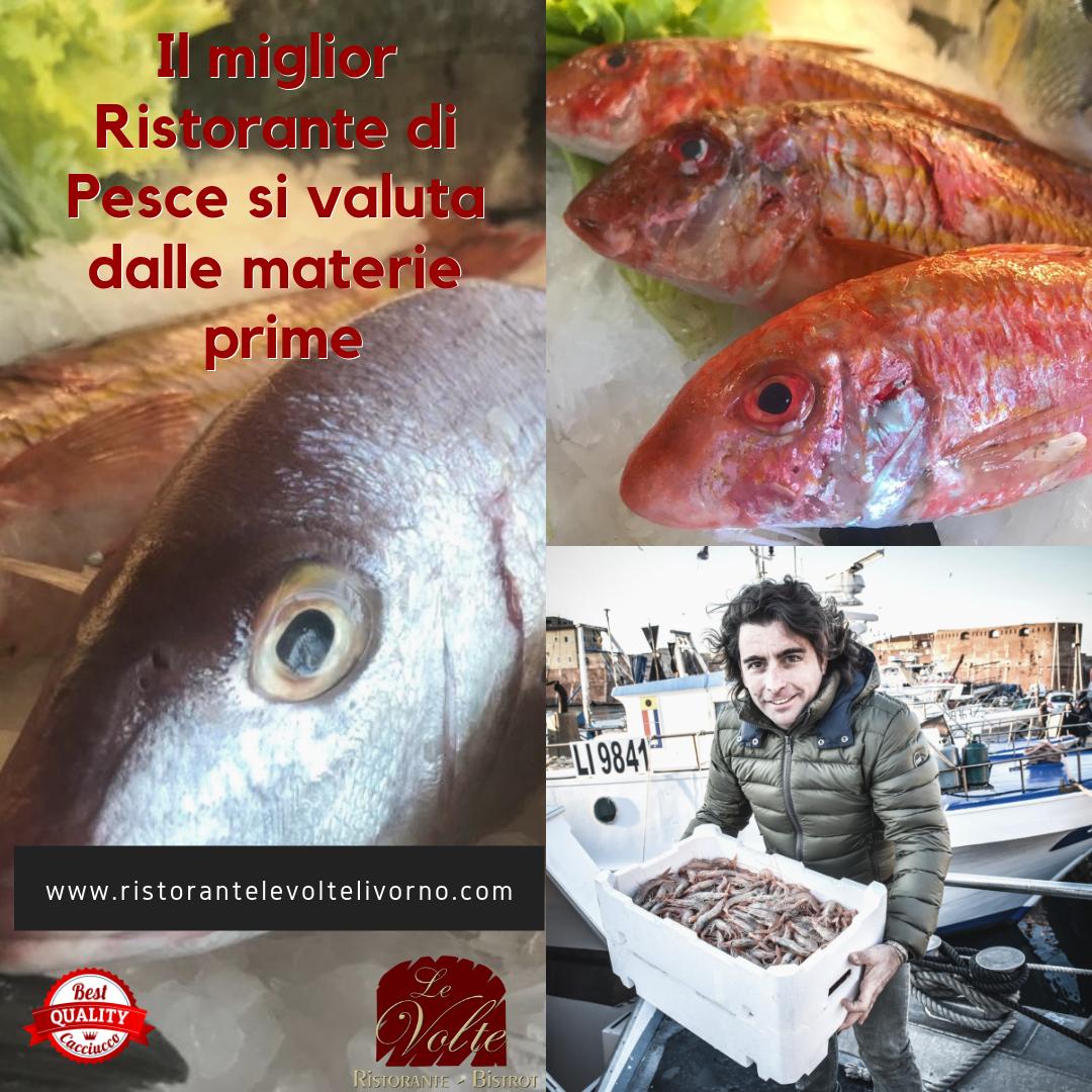 materie prime - Le Volte, un ristorante di pesce a Livorno in cui le materie prime sono freschissime