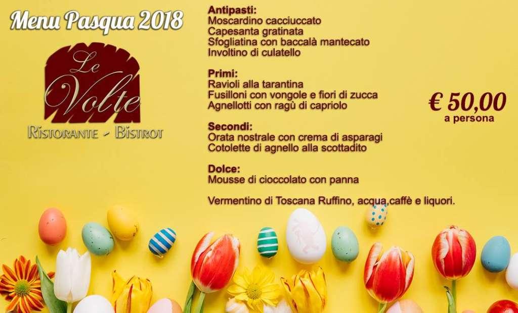 Menu Pasqua 2018 Livorno